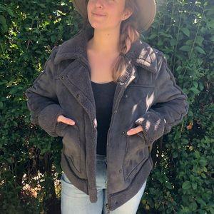 Grey Faux Suede Marrakech Jacket